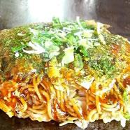 福岡県産野菜を使用した広島お好み焼き